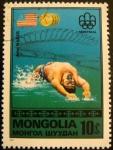 Sellos del Mundo : Europa : Rusia : Mongolia. Olimpiadas Montreal. John Naber