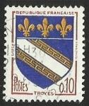 Sellos de Europa - Francia -  ESCUDOS PROVINCIAS  - TROYES