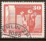 Sellos de Europa - Alemania -  Monumento en conmemoración de los Trabajadores en Halle-Saale,Berlín-DDR.