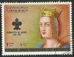 Sellos del Mundo : Asia : Emiratos_Árabes_Unidos : ALMAN STATE - KINGS AND QUEENS OF FRANCE - CHARLOTTE DE SAVDIE