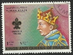 Sellos del Mundo : Asia : Emiratos_Árabes_Unidos : AJMAN STATE - KINGS AND QUEENS OF FRANCE - CHARLES VI