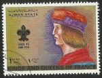 Sellos del Mundo : Asia : Emiratos_Árabes_Unidos : AJMAN STATE - KINGS AND QUEENS OF FRANCE - LOUIS XII