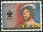 Sellos del Mundo : Asia : Emiratos_Árabes_Unidos : AJMAN STATE - KINGS AND QUEENS OF FRANCE - FRANCOIS I