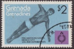 Sellos del Mundo : America : Granada : Granada Granadinas 1975 Scott 107 Sello ** Deportes Pan American Games Mexico Diving 2$ Grenada Gren