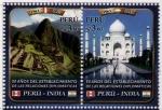 Sellos del Mundo : America : Perú : 50 años Relaciones Diplomaticas con la India