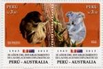Sellos de America - Perú -  50 años Relaciones Diplomaticas con la Australia