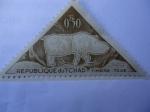 Sellos del Mundo : Africa : Chad : Arte Ruspetre- Republique du Tchad-Timbre taxe-