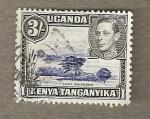 Sellos del Mundo : Africa : Uganda : Lago Naivasha