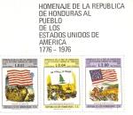 Sellos del Mundo : America : Honduras : Homenaje de La República de Honduras al Pueblo de Los Estados Unidos de América