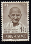 Sellos del Mundo : Asia : India : Mahatma Gandhi
