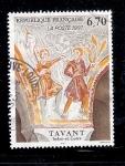 Sellos del Mundo : Europa : Francia : Frescos de la Iglesia de San Nicolás, Tavant