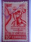 Sellos de America - Venezuela -  Alonso de Ojeda-Descubridor del Lago de Maracaibo 1499-1949