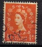 Sellos del Mundo : Europa : Reino_Unido : Queen Elizabeth Tipo Wilding / WM múltiples coronas
