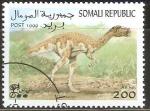 Sellos del Mundo : Africa : Somalia : ANIMALES  PREHISTÒRICOS.  QUIRAPTOR.