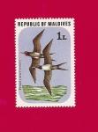 Sellos del Mundo : Asia : Maldivas : Flora y Fauna - Aves - Fragata
