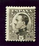 Sellos del Mundo : Europa : España : Alfonso XIII. Tipo Vaquer de Perfil