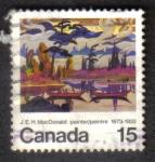 Sellos del Mundo : America : Canadá : J.E.H. MacDonald 1873-1932 Pintor