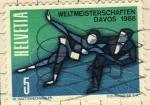 Sellos del Mundo : Europa : Suiza : Campeonato de patin