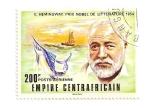 Sellos del Mundo : Africa : Rep_Centroafricana : Premio Nobel literatura 1954