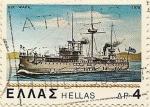 Sellos del Mundo : Europa : Grecia : buque guerra vapor
