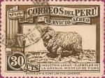 Sellos del Mundo : America : Perú : Sellos para Correo Aéreo. Industria Lanar.