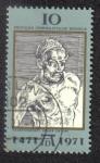 Sellos del Mundo : Europa : Alemania : Auto Retrato del pintor Alberto Durero, 500. cumpleaños ( 1471-1528 )
