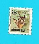 Sellos del Mundo : Africa : Zimbabwe : RHODESIA  Flora y Fauna    Antilope