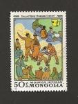 Sellos de Asia - Mongolia -  Escenas vida cotidiana