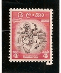 Sellos de Asia - Sri Lanka -  Bailarina