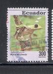 Sellos de America - Ecuador -  Anfibios, rana de chocó