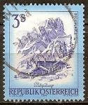 Sellos de Europa - Austria -  Mitra de obispo en el macizo de Dachstein, Salzburgo.