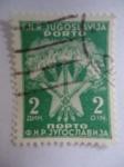 Sellos del Mundo : Europa : Yugoslavia : Antorchas y Estrellas -  F.N.R. Yugoslavia (Kosovo)-Nopto