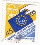 Sellos de Europa - España -  MERCADO UNICO  €93  (9)