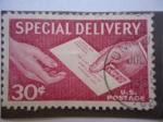 Sellos de America - Estados Unidos -  Entrega Especial - Epecial Delivery