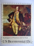 Sellos de America - Estados Unidos -  Bicentennial 1777-1977 - washington en Princeton 1777