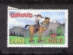 Sellos del Mundo : America : Chile : Cómic: Condorito huaso