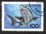Sellos del Mundo : Africa : Tanzania : Pristiophorus Cirratus