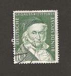 Sellos de Europa - Alemania -  100 Aniv. muerte C. F. Gauss, matemático