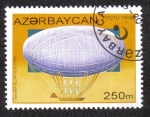 Sellos del Mundo : Asia : Azerbaiyán : PRIMER DIRIGIBLE ELIPTICO (1784)