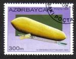 Sellos del Mundo : Asia : Azerbaiyán : PRIMER DIRIGIBLE SCOTT BALDWIN (1904)