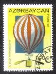 Sellos del Mundo : Asia : Azerbaiyán : PRIMER DIRIGIBLE A HYDROGENO (1784)
