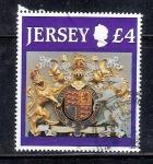 Sellos de Europa - Isla de Jersey -  Escudo de armas del Reino Unido
