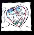 Sellos del Mundo : Europa : Francia : Corazón de Chanel