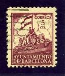 Sellos del Mundo : Europa : España : Barcelona. Frontispicio del Ayuntamiento