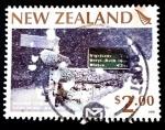 Sellos de Oceania - Nueva Zelanda -  Clima extremo: tormenta de nieve