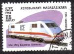 Sellos del Mundo : Africa : Madagascar : Locomotora Siemens Intra ciudad expres