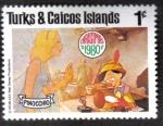 Sellos del Mundo : America : Islas_Turcas_y_Caicos : Pinocho