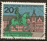 Sellos de Europa - Alemania -     Monumento Jan-Wellern en Dusseldorf.