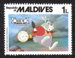 Sellos del Mundo : Asia : Maldivas : Alice Wonderland