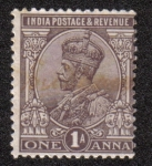 Sellos del Mundo : Asia : India : King George V with Indian emperor's crown